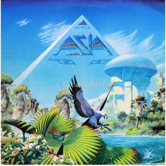 Asia Alpha Vintage Vinyl Album from 1983 Classic Rock Progressive Pop Rock Featuring the Song Don't Cry Steve Howe Carl Palmer John Wetton by GailsPopCycle on Etsy Greatest Album Covers, Rock Album Covers, Patrick Nagel, Purple Rain, Cover Art, Lp Cover, Vinyl Cover, Rock And Roll, Roger Dean