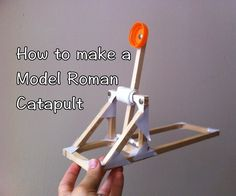 A while ago, I started making projects for teaching in school which were manageable, fun and educational. The first project we made was this model Roman catapult. Since making it, a number of teachers and students have asked for instructions for how to make it, so here we go!Please note: If you're a teacher wondering how do-able this is, I've made this with a whole class of Year 3s (7-8 year olds) working in pairs and other teachers have made this with Year 5 and 6 classes so it's...