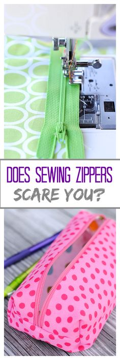 Are you scared of sewing zippers?  Not anymore!  xxxx