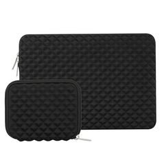 MOSISO Laptop Sleeve Compatible with 2019 2018 MacBook Air 13 inch Retina Display 13 inch MacBook Pro Diamond Foam Neoprene Bag Cover with Small Case, Black Macbook Pro 13, Macbook Bag, Newest Macbook Pro, Mac Book, Ipad Pro, Lenovo Yoga, Surface Laptop, Surface Pro, Microsoft Surface