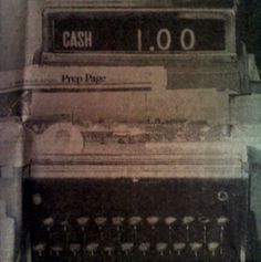 Old cash register.