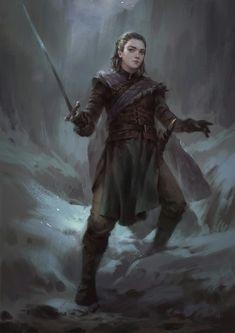 No One: Beautiful Digital Painting of Arya Stark by Wisnu Tan