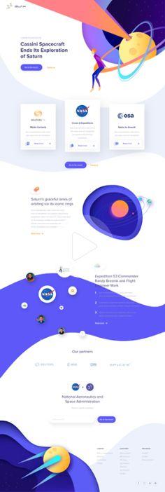 Web Design Club — UI Inspiration - Outcrowd by Nicola Baldo - Web. Web And App Design, Web Design Trends, Design Websites, Web Design Quotes, Space Websites, Flat Web Design, Modern Web Design, Banner Web Design, Layout Design
