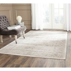 Safavieh Vintage Light Grey/ Ivory Rug (5'1 x 7'7) - Free Shipping Today - Overstock.com - 17097234 - Mobile