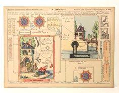 Pellerin Imagerie D'Epinal-1008 La Lessiveuse Moyennes vintage paper model