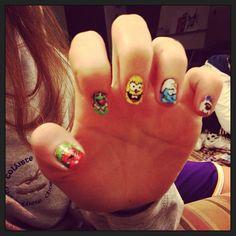 Cartoon nail art Cartoon Characters, Nail Art, Colours, Nails, Instagram Posts, Finger Nails, Ongles, Nail Arts, Nail Art Designs