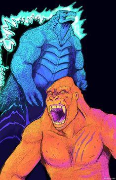 Fondo De Pantalla De Avengers, Monstruos, Datos, King Kong Vs. Godzilla, Ilustración De Bosque, Arte De La Ciencia Ficción, La Isla Calavera, Marvel