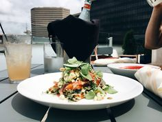Burnt Carrot Salad with a view on the Cocktail Terrace Downtown Restaurants, Museum Hotel, Carrot Salad, Cincinnati, Terrace, Carrots, Cocktail, Cooking, Cuisine