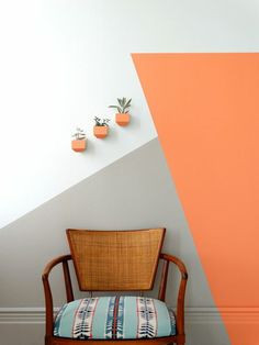 Peinture Murale Orange Pastel | Kapokto