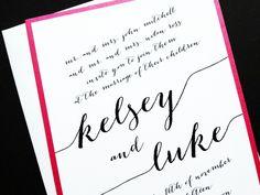 Forever Wedding Invitation - Layered Wedding Invite - Custom Type Wedding Invitations by LittleSparkCreations on Etsy