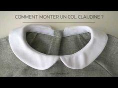 Comment coudre un col claudine ? - YouTube Techniques Couture, Sewing Techniques, Fashion Sewing, Diy Fashion, Blouse Col Claudine, Sewing Pockets, Costumes Couture, Couture Sewing, Little Dresses