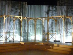 The Set for Mansfield Park, adapted by Tim Luscombe, Theatre Royal Bury St Edmunds production,Stage Design by Kit Surrey 2012