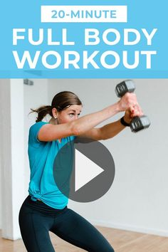 Use the full 20-minute workout video at the top of this post to follow along as I coach you through this full body HIIT workout for women in real time.For this workout you'll need a medium-to-heavy set of dumbbells. I suggest using 10-20 lbs, I'm using 15 lbs in the workout video above. Choose a weight that challenges you #weighttraining #hiittraining #hiit