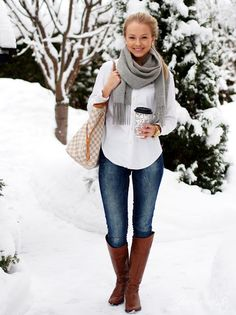 Winter outfit...Love. Wish for the snow...Not going to happen here...California!! :) Still cold though in Winter.
