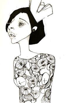 little ladies by Petroula Krigkou, via Behance