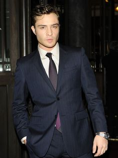 Ed Westwick, he plays Chuck Bass on Gossip Girl. If you think his voice playing Chuck is sexy, listen to his REAL voice, he's British!