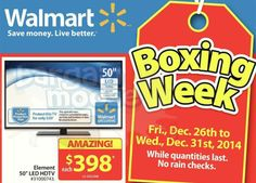 Walmart Canada Boxing Day Flyers Out Now! (Dec. 26 31 2014) Photo