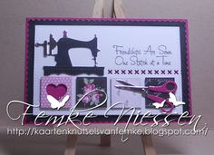 made by femke niessen. series of patchworkcards # 7: friendship