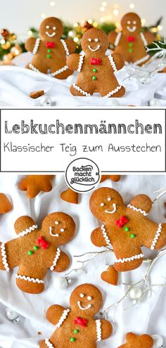 Lebkuchen-Männchen Are not these gingerbread men cute? With the recipe for home-made gingerbread men, we hope to bring you a Christmas spirit as well. Looking at the glorious gingerbread men, does the Winter Wonderland heart go straight to you, or 🙂? Baked Donut Recipes, Baking Recipes, Gingerbread Man, Gingerbread Cookies, Homemade Donuts, Chocolate Donuts, Man Food, Pumpkin Dessert, Christmas Desserts