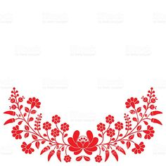 Vector background - traditional pattern from Hungary isolated on white Diy Embroidery Stitches, Cutwork Embroidery, Hungarian Embroidery, Embroidery Patterns, Diy And Crafts Sewing, Arts And Crafts, Free Vector Art, Embroidered Flowers, Diy Painting