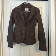 H&M Jackets & Blazers - Fitted Olive Corduroy Jacket