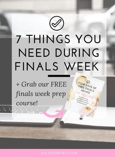 Want to know what you should have handy when finals week starts? Here is a list of seven things to help you breeze through those finals. Click to read!