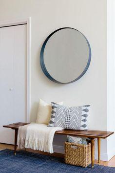 miroir design rond, encadrement élégant