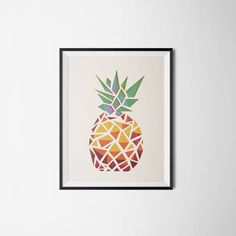 A unique paper cut pineapple art for your home.  Not just a print, this pineapple is a gorgeous paper cut piece of art. It is a geometric composition of 8 layers of premium color paper. Each colored layer has been cut to show the color below.  It is ready to be framed.  Dimension: A4 (21 x 29,7 cm)  Frame not included