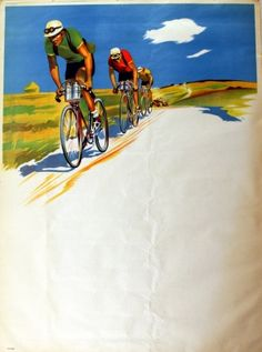 French Cycling, 1960s - original vintage poster listed on http://AntikBar.co.uk…