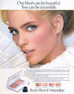 Vintage Maybelline ad featuring Kim Alexis