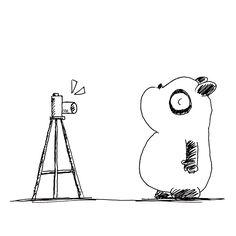 【一日一大熊猫】2017.2.21 仕事場で教えてもらった自撮り加工アプリを試して見たよ。 え!すごい技術だね。 どういう仕組みなのか知らないけど。 #パンダ #自撮り