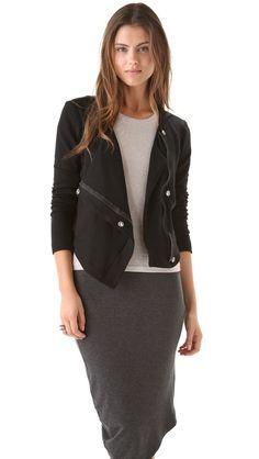 Fashion Fleece! Heather Fleece Bomber Jacket, ShopBop. Like wearing a blanket, but you look MUCH better!