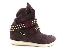 #Paciotti4US #sneakers #zeppainterna #prugna #borchie #camoscio #donna #zooode