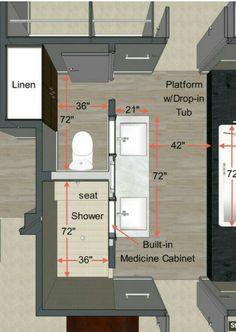 contemporary floor plan by Steven Corley Randel, Architect - general sizing/spac. - contemporary floor plan by Steven Corley Randel, Architect – general sizing/space requirements fo - Bathroom Floor Plans, Laundry In Bathroom, Bathroom Flooring, Bathroom Faucets, Basement Bathroom, Laundry Rooms, Bath Laundry Combo, Houzz Bathroom, Concrete Bathroom