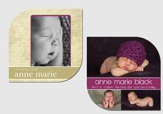 "Newborn ""leaf"" birth announcement"