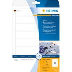 Herma Etiketten ID Naam/Textiel Acetaatzijde 88.9 x 33.8mm A4 | Staples.nl