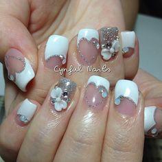 Bridal nails by Cynful Nails