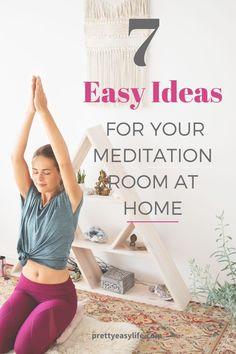 Feb 2020 - Create your won meditation room at home with these easy ideas Meditation Exercises, Easy Meditation, Meditation Benefits, Meditation Space, Mindfulness Meditation, Relaxation Exercises, Restorative Yoga Poses, Prenatal Yoga, Yoga Lifestyle