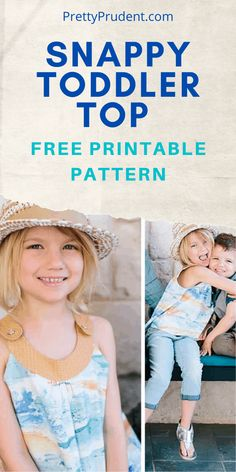 The Snappy Toddler Top Free Pattern is a beginner sewing project that I highly recommend. Be sure to check out our collection of free sewing patterns and projects. Sewing Kids Clothes, Baby Clothes Patterns, Sewing Patterns For Kids, Sewing For Kids, Free Sewing, Sewing Pants, Pattern Sewing, Pants Pattern, Dress Patterns