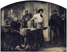 Artur Grottger - Wojna, III. Losowanie rekrutów, 1867