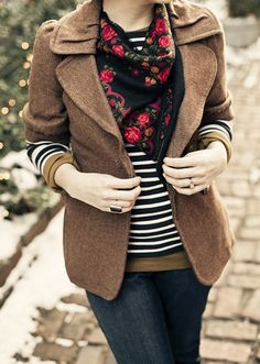Stripes with a beautiful scarf
