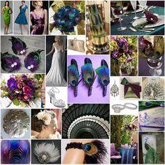 Peacock - blue, purple, green