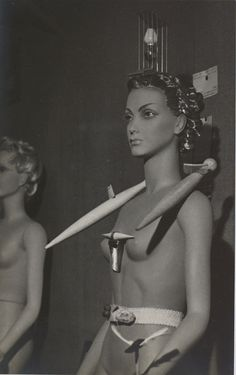 International Exhibition of Surrealism at Galerie des Beaux-Arts, Mannequin by Yves Tanguy, Paris, 1938. Photo by Man Ray