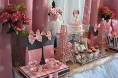 Minnie Mouse in Paris birthday party! See more party ideas at CatchMyParty.com!