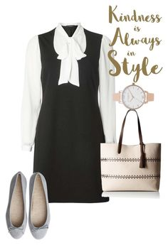 """""""dress"""" by masayuki4499 ❤ liked on Polyvore featuring Dorothy Perkins, Cole Haan, Sixtrees and Olivia Burton"""