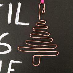 DIY: Anhänger für Weihnachtsbaum aus Aluminiumdraht Kupfer Advent #weihnachten #diy