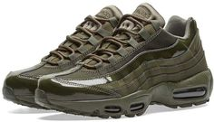 Buy the Nike Air Max 95 W in Cargo Khaki from leading mens fashion retailer END. - only Fast shipping on all latest Nike products Air Max Camo, Air Max 95, Nike Air Max, Air Max Sneakers, Sneakers Nike, Hiking Boots, Nike Shoes, Mens Fashion, Basket