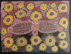 Pansy Smith Napangardi, Illpili http://gallery.aboriginalartdirectory.com/aboriginal-art/pansy-smith-napangardi/illpili.php