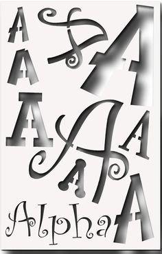 Greek Letter ALPHA Stencil for All your Sorority Crafting via Etsy