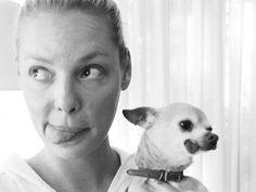 "Celebrity Dog Moms Who Make ""Crazy Dog Lady"" Look Pretty Darn Great! 15 Celebrity Dog Moms Who Make ""Crazy Dog Lady"" Look Good - Katherine Celebrity Dog Moms Who Make ""Crazy Dog Lady"" Look Good - Katherine Heigl Katherine Heigl, Chihuahua Love, Chihuahua Puppies, Animal Lover Quotes, Dog Mothers Day, Famous Dogs, Famous People, Celebrity Dogs, Pet Clinic"